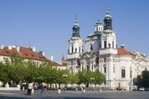 Prague - st. Nicholas baroque church — Stock Photo