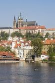 Prague - st. Vitus cathedral and castle — Stock Photo