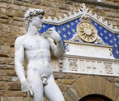 Florence - David statue by Michelangelo — Stockfoto