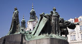 Prague - Jan Hus landmark by Jan Kotera,1915 — Stock Photo