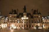 Paris - Hotel de Ville in the night - town-hall — Stock Photo