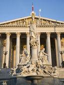 Vienna - Pallas Athena fountain and parliament — ストック写真