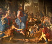 Jesus entry into Jerusalem - Paris - St-Germain-des-Pres church — Stock Photo
