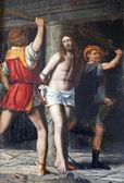 ミラノ - アカペラ キリストの鞭打ち・ デッラ ・ passione 1516 バーナーディーノ luini によってサン ・ ジョルジョ教会で. — ストック写真