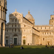 Pisa - cathedral and hanging tower and baptistery of st. John - Piazza dei Miracoli — Stock Photo #10220283