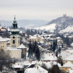 Old castle and calvary in Banska Stiavnica - Slovakia - unesco monument — Stock Photo #10220837