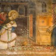 Florence - fresco of Annunciation from chruch San Miniato al Monte — Stock Photo