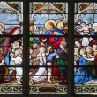Paris - windowpane from Saint Severin gothic church - Jesus with children — Stock Photo #10221495