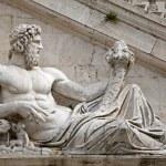 Rome - statue of Tiber for Palazzo Senatorio — Stock Photo #10221612