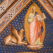Fresco from Florence church - San Miniato al Monte - st. Mark the Evangelist - 图库照片