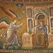 Rome - mosaic of Annuntiation in Santa Maria in Trastevere basilica by Pietro Cavallini (1291) — Stock Photo