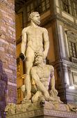 Florenz - hercules und caco statue von baccio bandinelli — Stockfoto