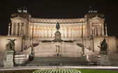 Rome - VIttorio Emanuel landmark at night — Stock Photo