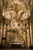 Vienna - baroque altar from st. Charles Boromeo church — Stock Photo