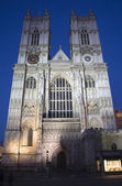 London - Westminster abbey in evening — Stock Photo