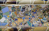 BARCELONA - JUNY 2009: mosaic bench of house in Park Guell, designed by Antoni Gaudi. Built in 1900 - 1914. Part of UNESCO, Jun 9,2009 in Barcelona Spain. — Stock Photo