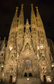 Barcelona - Sagrada la Familia at night — Stock Photo