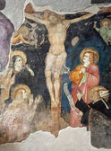 Milan - crucifiction fresco from San Marco church - anonymous painter — Stock Photo