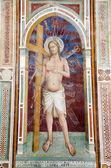 Jezus christus met het kruis van florence kerk - san miniato al monte — Stockfoto