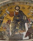 Jesus Christ - Pantokrator from Florence church - San Miniato al Monte — Stock Photo