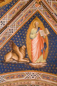 Fresco from Florence church - San Miniato al Monte - st. Mark the Evangelist — Foto Stock