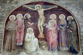 Jesus Christ on the cross from Florence church - San Miniato al Monte — Stock Photo