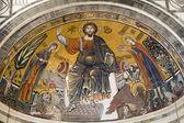 Jezus chrystus - pantokrator z kościoła we florencji - san miniato al monte — Zdjęcie stockowe