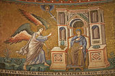 Rome - mosaic of Annuntiation in Santa Maria in Trastevere basilica by Pietro Cavallini (1291) — Stockfoto