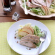Stock Photo: Chicken salad with apple