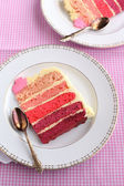 A piece of cake with buttercream frosting — Stock Photo