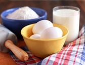 Ingredients for the dough — Stock Photo