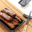 BBQ chinese ribs with Spicy Sauce - Stock Photo
