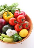Fresh vegetables for creating mexican cuisine — Stock Photo