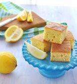 Slices of lemon cake — Stock Photo