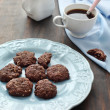 Chocolate cookies with coconut — Stock Photo #10643578