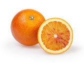Two oranges on white background — Stock Photo