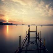Dawn at Black sea — Stock Photo