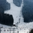 Stock Photo: Bansko, well-known ski resort, ski track, Balkans Bulgaria