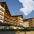 Stock Photo: Bansko architecture contemporary Kempinski hotel, Pirin mountain Balkans Bulgaria