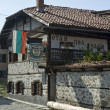 Bansko, famous ski resort in Bulgaria, well known with its old traditional architecture — Stock Photo