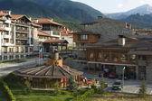 Bansko architecture, famous ski resort, Europe Balkans Bulgaria — Stock Photo