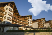 Bansko architecture contemporary Kempinski hotel, Pirin mountain Balkans Bulgaria — Stock Photo