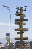 Bansko, Directions and signs, Balkans Bulgaria — Stock Photo