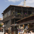 Stock Photo: Old street and wooden houses, Nessebar Black Seresort