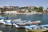 Nessebar Black Sea resort, harbour — Stock Photo