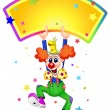 Stock Vector: Funny clown