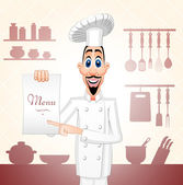 Cheff of the restaurant — Vector de stock