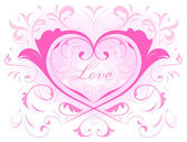 Heart and love — Vector de stock