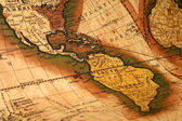 Old map of the world — Stock fotografie