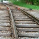 kolejowej w drewnie — Zdjęcie stockowe